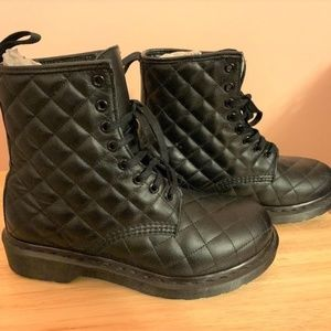 Dr. Martens Coralie Black Quilted Leather Boot - 7